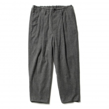 URU / ウル | COTTON WOOL / 1 TUCK PANTS - Gray