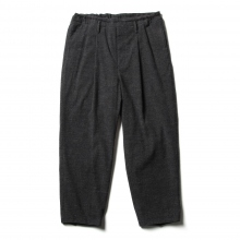 URU / ウル | COTTON WOOL / 1 TUCK PANTS - Navy
