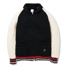 BEDWIN / ベドウィン | SHAWL COLLAR COWICHAN SWEATER 「JACO」 - Black