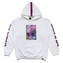 ELVIRA / エルビラ | GLITCH ROSE HOODY - White