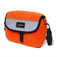 ELVIRA / エルビラ | FLEECE MESSENGER BAG - Orange
