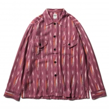 South2 West8 / サウスツーウエストエイト | Smokey Shirt - Ikat Pattern - Red