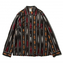 South2 West8 / サウスツーウエストエイト | Smokey Shirt - Ikat Pattern - Black