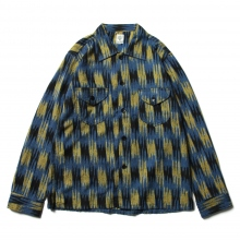 South2 West8 / サウスツーウエストエイト | Smokey Shirt - Ikat Pattern - Blue