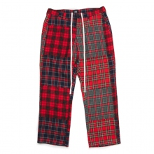 ELVIRA / エルビラ | PATCHWORK PANTS - Red Check
