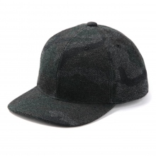 HABANOS / ハバノス | CAMO TWEED CAP - Black