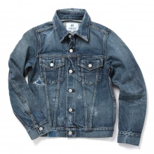HABANOS / ハバノス | REPAIR DENIM JACKET - Repair Indigo
