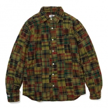 GOODENOUGH / グッドイナフ | FLANNEL PATCHWORK SHIRT - O.D