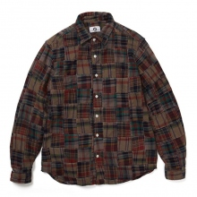 GOODENOUGH / グッドイナフ | FLANNEL PATCHWORK SHIRT - Charcoal