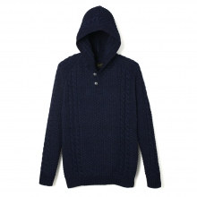Stevenson Overall Co|Indigo Knit Hooded Sweatshirt - HP1 - Indigo