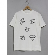 ....... RESEARCH | Print Tee (5 Bear Heads) - White