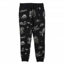 Porter Classic / ポータークラシック | FLOCKY SWEAT PANTS - Black