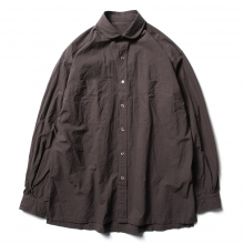 Porter Classic / ポータークラシック | WIDE POCKET SHIRT - Chocolate