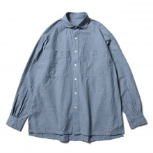 Porter Classic / ポータークラシック | WIDE POCKET SHIRT - Blue ☆