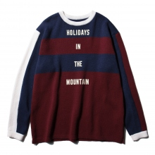 ....... RESEARCH | Saunter Knit - Navy × Red