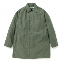 ENGINEERED GARMENTS / エンジニアドガーメンツ | EG Workaday Shop Coat - Cotton Reversed Sateen - Olive