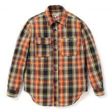 ENGINEERED GARMENTS | EG Workaday Utility Shirt - Indian Plaid - Orange