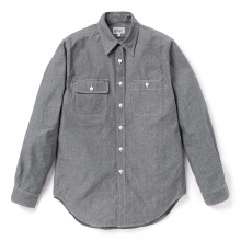 ENGINEERED GARMENTS | EG Workaday Utility Shirt - Cotton Chambray - Blue