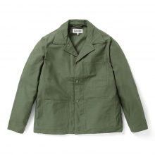 ENGINEERED GARMENTS | EG Workaday Utility Jacket - Cotton Reversed Sateen - Olive