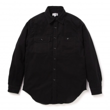 ENGINEERED GARMENTS | EG Workaday Utility Shirt - Cotton Flannel - Black