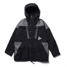 and wander / アンドワンダー | taslan nylon jacket - Black
