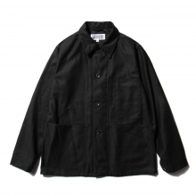 ENGINEERED GARMENTS / エンジニアドガーメンツ | EG Workaday Utility Jacket - Cotton Reversed Sateen - Black