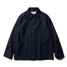 ENGINEERED GARMENTS / エンジニアドガーメンツ | EG Workaday Utility Jacket - Cotton Reversed Sateen - Dk.Navy