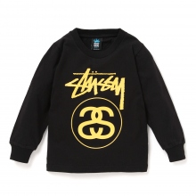 STUSSY KIDS / ステューシー キッズ | Kids Stock Link L/SL Tee - Black ★