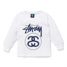STUSSY KIDS / ステューシー キッズ | Kids Stock Link L/SL Tee - White ★