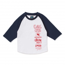 STUSSY KIDS / ステューシー キッズ | Kids Global Gathering Raglan - Blue ★