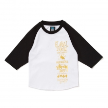 STUSSY KIDS / ステューシー キッズ | Kids Global Gathering Raglan - Black ★