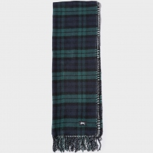 STUSSY / ステューシー | Double Faced Wool Scarf - Black