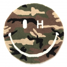 SECOND LAB. / セカンンド ラボ | SECOND LAB. SMILE H EYE CAMO ROUND RUG - O.D