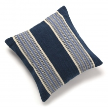 INDIA FLAG / インディア フラッグ | INDIA FLAG CC-15030901 NAVY×BLUE STRIPE NATIVE CUSHION COVER 50×50 - Blue