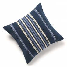 INDIA FLAG / インディア フラッグ | INDIA FLAG CC-15030902 NAVY×BLUE STRIPE NATIVE CUSHION COVER 50×50 - Blue2