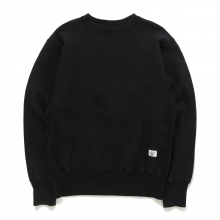 BEDWIN / ベドウィン | L/S HAVEY COTTON C-NECK SWEAT 「LOU」 - Black