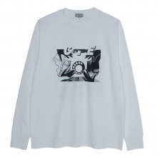 C.E / シーイー | ROTARY DIAL LONG SLEEVE T - White ☆
