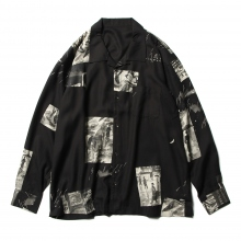 Porter Classic / ポータークラシック | ALOHA LONG SHIRT TIMES SQUARE - Black