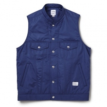 BEDWIN / ベドウィン | PUFF VEST 「LEE JAY」 - Blue
