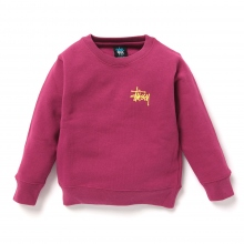 STUSSY KIDS / ステューシー キッズ | Kids Basic Stussy Crew - Grape ★