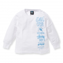 STUSSY KIDS / ステューシー キッズ | Kids Global Gathering L/SL Tee - White ★