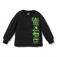 STUSSY KIDS / ステューシー キッズ | Kids Global Gathering L/SL Tee - Black ★