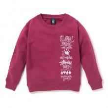 STUSSY KIDS / ステューシー キッズ | Kids 1st Annual App. Crew - Grape ★