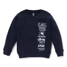 STUSSY KIDS / ステューシー キッズ | Kids 1st Annual App. Crew - Navy ★