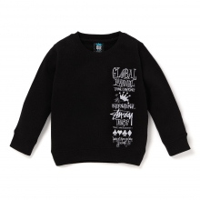 STUSSY KIDS / ステューシー キッズ | Kids 1st Annual App. Crew - Black ★
