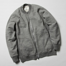 CURLY / カーリー | RAFFY ZIP CREW exclusively at COLLECT STORE - Charcoal