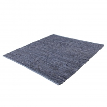 INDIA FLAG / インディア フラッグ | INDIA FLAG RG-160244 RECYCLE LEATHER RUG 150×150 - Navy