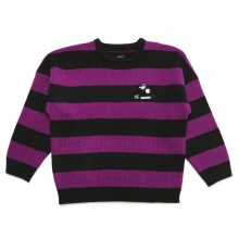 ELVIRA / エルビラ | BORDER SWEATER - Purple