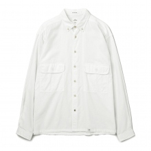 BEDWIN / ベドウィン | L/S SHIRT JACKET 「MARSHALL」 - White