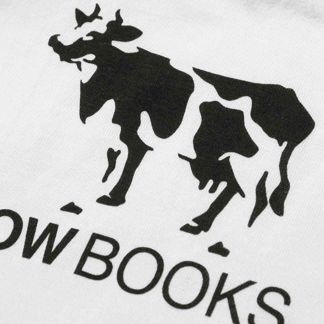 cow books カウブックス kids tshirt white black 通販 正規